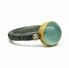Aquamarine and Diamond Ring by Jenny Foulkes (Gold, Silver & Stone Ring)