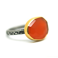 Carnelian Ring by Jenny Foulkes (Gold, Silver & Stone Ring)