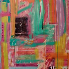 Morning In Love by Niki Stearman  (Mixed-Media Painting)