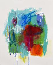 Crimson Moon by Linda O'Neill (Mixed-Media Painting)