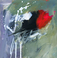 Red Rose by Linda O'Neill (Acrylic Painting)