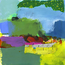 Oasis 6 by Linda O'Neill (Mixed-Media Painting)