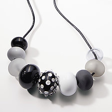 Bubble Bead Necklace with Focal Bead by Alicia Niles (Glass Necklace)