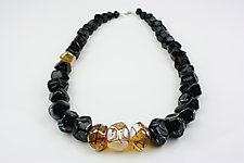Onyx and Helios Necklace by Alicia Niles (Glass Beaded Necklace)