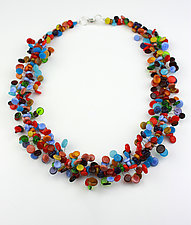 Colorful Confetti Necklace by Alicia Niles (Glass Beaded Necklace)