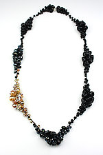 Black & Gold Cluster Necklace by Alicia Niles (Jewelry Necklaces)