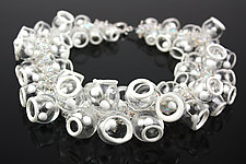 Effervescence Necklace by Alicia Niles (Silver & Glass Necklace)