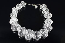 Ice Nugget Necklace by Alicia Niles (Glass Beaded Necklace)