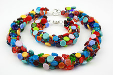 Button Necklace and Bracelet Set by Alicia Niles (Beaded Jewelry)