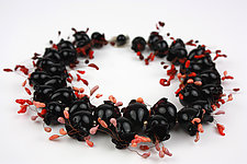 Black Pods Necklace by Alicia Niles (Beaded Necklace)