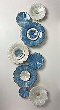 Blue Star II by Debra Steidel (Ceramic Wall Sculpture)