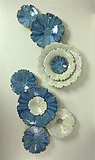Blue Star III by Debra Steidel (Ceramic Wall Sculpture)