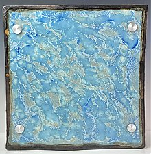 The Color of Water  - St Tropez Ripple Design by Debra Steidel (Ceramic Wall Sculpture)