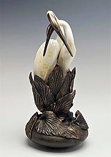 Shadow Dancers Sculpture by Debra Steidel (Ceramic Sculpture)