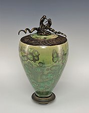Soul Mates with Bronze by Debra Steidel (Ceramic Vessel)