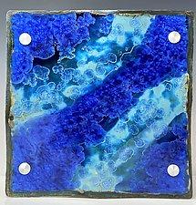 The Color of Water - Tahiti by Debra Steidel (Ceramic Wall Sculpture)