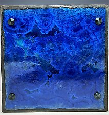 The Color of Water - Aegean Sea Wave Design by Debra Steidel (Ceramic Wall Sculpture)