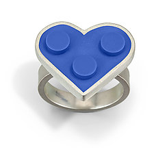 Forever Young Heart Ring by JacQueline Sanchez (Silver & Plastic Ring)