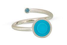 Diamond and Dot Wrap Ring by JacQueline Sanchez (Diamond, Silver & Plastic Ring)