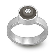 Forever Young Diamond Dot Ring by JacQueline Sanchez (Diamond, Silver & Plastic Ring)