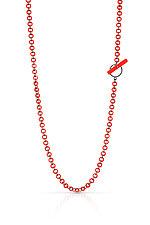 Small Cascade Necklace by JacQueline Sanchez (Silver & Plastic Necklace)