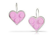 Heart Earrings by JacQueline Sanchez (Silver & Plastic Earrings)