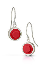 Forever Young Dot Dangle Earrings by JacQueline Sanchez (Silver & Plastic Earrings)