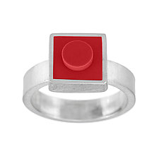 Forever Young Small Brick Ring by JacQueline Sanchez (Silver & Plastic Ring)