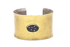 Thick Slate Cuff by Jessica Weiss (Gold, Silver & Stone Bracelet)