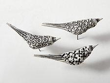 Birds in Flight by Jenifer Thoem (Ceramic Wall Sculpture)