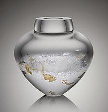 Thaw Emperor Bowl by Randi Solin (Art Glass Vessel)