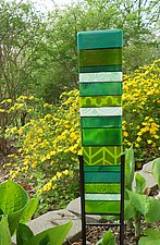 Yard Stripes by Lisa Becker (Art Glass Sculpture)