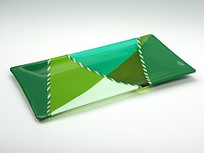 Cool Cane Platter by Lisa Becker (Art Glass Tray)