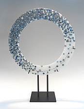 Ring of Steel by Lisa Becker (Art Glass Sculpture)
