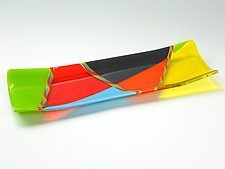 Hot Cane Sushi Tray by Lisa Becker (Art Glass Tray)