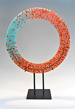 Fire and Water by Lisa Becker (Art Glass Sculpture)
