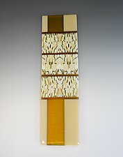 Neutral Dance by Lisa Becker (Art Glass Wall Sculpture)