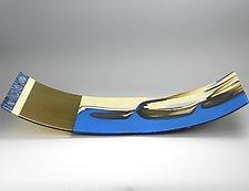 Sand and Sky by Lisa Becker (Art Glass Sculpture)