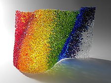 Rainbow Wave by Lisa Becker (Art Glass Sculpture)