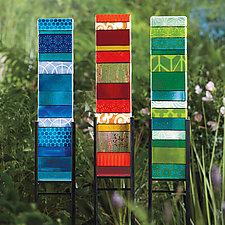 Yard Stripes by Lisa Becker (Art Glass Sculpture)