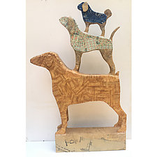 Three Dog Pile 2 by Tiffany Ownbey (Mixed-Media Sculpture)