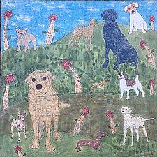 Dog Paradise by Tiffany Ownbey (Acrylic Painting)