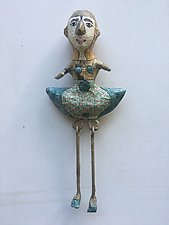 All Dressed Up 7 by Tiffany Ownbey (Mixed-Media Wall Sculpture)