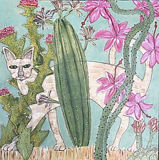 Cactus Kitty by Tiffany Ownbey (Acrylic Painting)