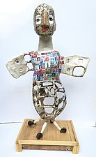 Bird Girl by Tiffany Ownbey (Mixed-Media Sculpture)