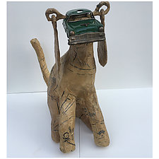 Police Car Dog by Tiffany Ownbey (Mixed-Media Sculpture)
