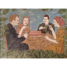 Picnic in the Garden (Did Anyone Bring a Knife?) by Tiffany Ownbey (Mixed-Media Collage)