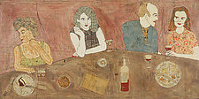 At the Bar by Tiffany Ownbey (Mixed-Media Collage)