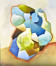Geodes Unearthed by Anne B Schwartz (Oil Painting)
