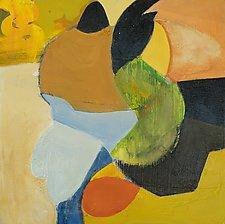 Orange Sun by Anne B Schwartz (Acrylic Painting)